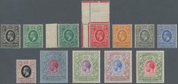 Britisch-Ostafrika Und Uganda: 1921 KGV. Complete Set Wmkd. Mult Script CA Plus 3c. In Blue-green, M - Kenya, Uganda & Tanganyika