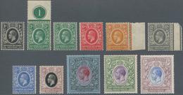 Britisch-Ostafrika Und Uganda: 1921 KGV. Set To 5r. Plus A Second 3c., Including Three Marginal Stam - Kenya, Uganda & Tanganyika