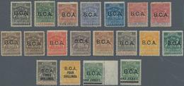 Britisch-Zentralafrika: 1891-95 Short Set Of 15 Up To 10s. Incl. Colour Shades Plus Four Stamp Optd. - Zonder Classificatie