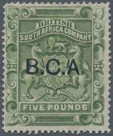 "Britisch-Zentralafrika: 1891-95 £5 Sage-green Optd. ""B.C.A."", Mint Lightly Hinged, Fresh And Very Fi - Zonder Classificatie"