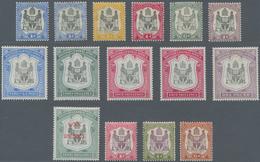 Britisch-Zentralafrika: 1897-1901 'Arms' Short Set Of Ten To 4s. (incl. Colour Shades), £1, 1897 1d. - Zonder Classificatie
