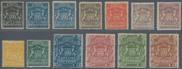 Britische Südafrika-Gesellschaft: 1892-93 Complete Set Of 13 Up To £10, Mounted Mint, The £5 With A - Zuid-Afrika (...-1961)