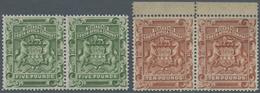 Britische Südafrika-Gesellschaft: 1892, £5 Sage-green And £10 Brown, Each As Horiz.pair, Unused No G - Zuid-Afrika (...-1961)