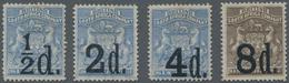 Britische Südafrika-Gesellschaft: 1892 Provisionals Complete Set Of Four, Mounted Mint, Lightly Tone - Zuid-Afrika (...-1961)