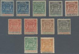 Britische Südafrika-Gesellschaft: 1892-95 'Coat Of Arms' Set Of 9 Up To 4s. Incl. Colour Shades, Plu - Zuid-Afrika (...-1961)