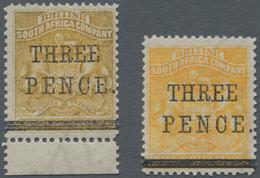Britische Südafrika-Gesellschaft: 1896 'Matabele Rebellion Provisional' 3d. On 5s. Orange-yellow, Bo - Zuid-Afrika (...-1961)