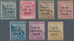 Britische Südafrika-Gesellschaft: 1896 Complete Set Of Seven Up To 1s., All Mounted Mint, The 3d. An - Zuid-Afrika (...-1961)