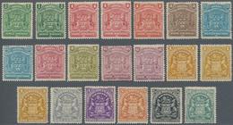 Britische Südafrika-Gesellschaft: 1898-1908 'Coat Of Arms' Short Set Of 20, From ½d. To 10s. Plus Co - Zuid-Afrika (...-1961)