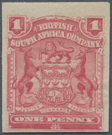 Britische Südafrika-Gesellschaft: 1898-1908 1d. Rose IMPERFORATED Single, Mounted Mint, Fresh And Fi - Zuid-Afrika (...-1961)