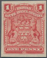 Britische Südafrika-Gesellschaft: 1898-1908 1d. Red IMPERFORATED Single, Mounted Mint, Fresh And Fin - Zuid-Afrika (...-1961)