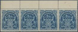 Britische Südafrika-Gesellschaft: 1901, £5 Blue, Top Marginal Horiz. Strip Of Four, Unused No Gum. - Zuid-Afrika (...-1961)