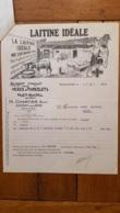 FACTURE ET LETTRE DE CHANGE 1925 LAITINE IDEALE PLET-RINDEL  H.  CHARTIER AULNAY SOUS BOIS - Francia