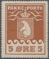 Dänemark - Grönländisches Handelskontor: 1905, Pakke Porto 'THIELE I' 5öre Brown Perf. 12 Mint Hinge - Groenland
