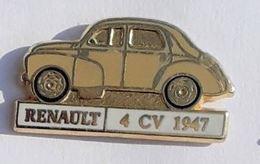 VT119 Pin's RENAULT 4CV Qualité Arthus Signé Cep  Achat Immediat - Renault
