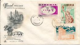 Liberia FDC FIPEX Cover Monrovia 28-4-1956 With ArtCraft Cachet - Liberia