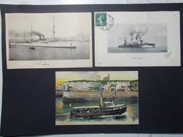 Lot 3 Cartes Postales Bateaux Divers (2778) - Ships