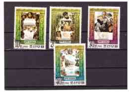 XX2594   -  COREA DEL NORD   /    CAT. MICHEL.    Nr.   1966/1970  SERIE COMPLETA USATA - Corea Del Nord