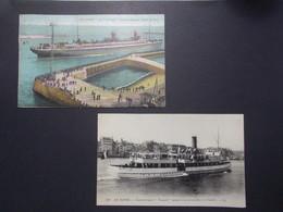 Lot 2 Cartes Postales Bateaux Divers LE HAVRE (2779) - Bateaux
