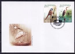 3333 Slowenien Slovenia 2019 FDC Europa CEPT Bird Vogel Purple Heron And Bearded Reedling - Slowenien