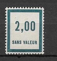 FRANCE FICTIF N°F52** Mnh Sans Charnière - Fictifs