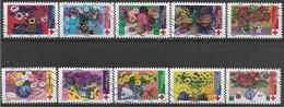 2018 FRANCE Adhesif 1548-57 Oblitérés, Croix-rouge, Fleurs, Série Complète - Adhesive Stamps