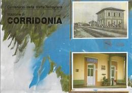 STAZIONE DI CORRIDONIA - CENTENARIO TRATTA FERROVIARIA CIVITANOVA-MACERATA - NUOVA - Stazioni Senza Treni