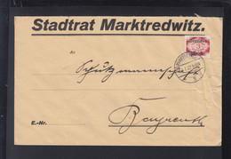 Dt. Reich Brief 1922 Stadtrat Marktredwitz - Dienstpost
