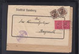Dt. Reich Brief 1923 Stadtrat Bamberg - Dienstpost