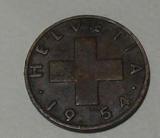 1954 - Suisse - Switzerland - 2 RAPPEN, (B), KM 47 - Suisse