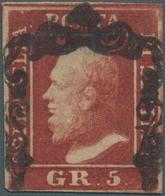 Italien - Altitalienische Staaten: Sizilien: 1859, 5gr. Reddish Brown, Fresh Colour, Neatly Cancelle - Sicilië
