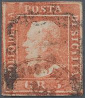 Italien - Altitalienische Staaten: Sizilien: 1859. 5 Grana, Light Vermillion, First Plate (vermiglio - Sicilië