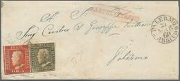 Italien - Altitalienische Staaten: Sizilien: 1859: 5 Grana, Second Plate, Bright Vermilion, Well Mar - Sicilië