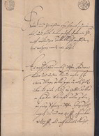 Preussen Dokument 1709 - Duitsland