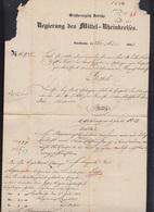 Faltbrief Niederlande Rotterdam Mannheim Curs II Zürich 1849 - Baden