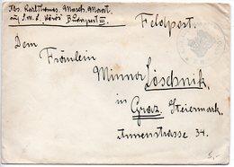Allemagne : Lettre Militaire - Cachet 'K.u.K. Kriegsmarine S.M.S. KOMOS' - Lettres & Documents
