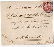 Allemagne, Kiautschou (Chine) : N° 3 Sur Lettre De 1904 Pour La France - Enveloppe Recoupée Côté Gauche - Colony: Kiauchau