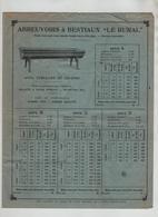 Quatre Feuillets Publicitaires Pauchard Saint Andoche Autun Manufacture Articles De Tôlerie - Pubblicitari