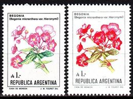 ARGENTINIEN ARGENTINA [1985] MiNr 1757 ( **/mnh ) [01] Ex Blumen 2 Farben - Argentinien