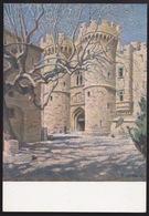 Anni 40 RODI Ingresso  Castello Al Di Rodi - Visioni Pittoriche Delle Isole Italiane Dell'Egeo Di LIDIO AJMONE - C_1076 - Grecia