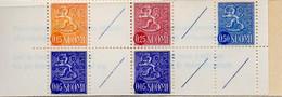PIA - FINLANDIA  - 1972 : Carnet Di 1,00 Mk Con Francobolli Di Uso Corrente Leone Rampante  - (Yv C537aB I ) - Libretti