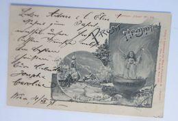 Neujahr, Engel, Kirche,     1898 ♥  - Anno Nuovo