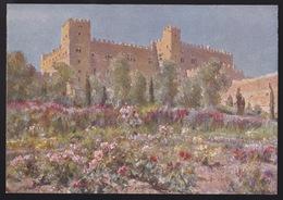 Anni 40 RODI - Giardino Del Castello Di Rodi - Visioni Pittoriche Delle Isole Italiane Dell'Egeo Di LIDIO AJMONE C_1082 - Grecia