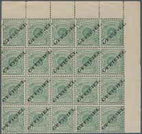 """Luxemburg - Dienstmarken: 1875/78, 4 C. Coat Of Arms In Oval With """"OFFICIEL"""" Imprint In Block Of Twe - Officials"""