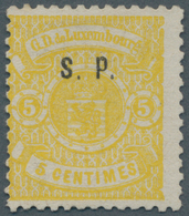 "Luxemburg - Dienstmarken: 1881, ""S.P."" Imprint On 5 C. 1880 Issue. Certifiate Pascal Scheller ""Neuf - Officials"
