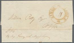 Malta - Vorphilatelie: 1818, Entire Letter From Malta, Dated 14th November 1818, Sent To Corfu, On A - Malta