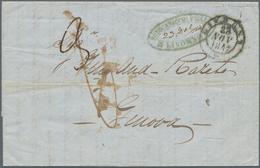 "Malta - Vorphilatelie: 1847, Entire Letter From Malta, Dated Nov.18th 1847, Forwarded By ""Rodocanacc - Malta"