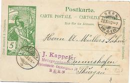 3 - 43 - Entier Postal UPU Avec Cachets à Date Bern Et Rheinfelden 1900 - Postwaardestukken