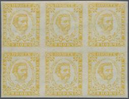 Montenegro: 1893. Prince Nicholas. Fourth Printing. 2n Yellow, IMPERF, 2½ Mm Apart Between Rows. Sup - Montenegro