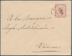 "Montenegro: 1893, Envelope To Austria, Franked 7n Dark Red, Perf 11½ Of THIRD PRINTING, Tied By ""CET - Montenegro"