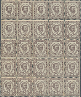 Montenegro: 1879. Prince Nicholas, Second Printing. 25 N Grey-violet, Perf 12 1/2 X 13. Very Fine Bl - Montenegro